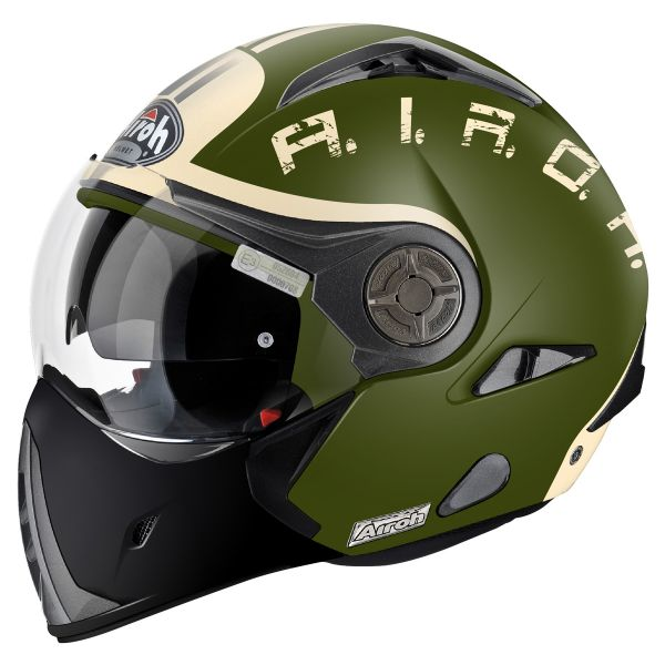 Casque Transformable Airoh J106 Smoke Green Matt