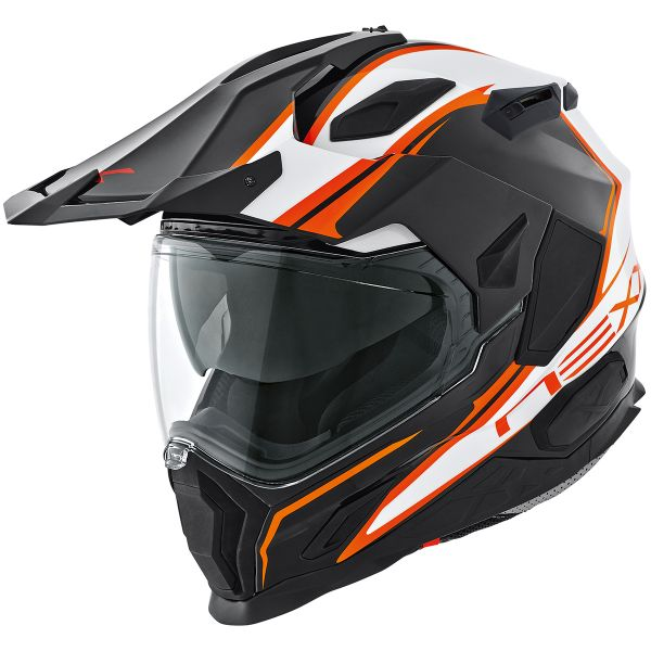 Casque Integral Nexx X.D1 Voyager Blanc Orange