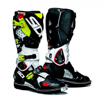 Bottes Cross SIDI Crossfire 2 SRS White Black Yellow Fluo