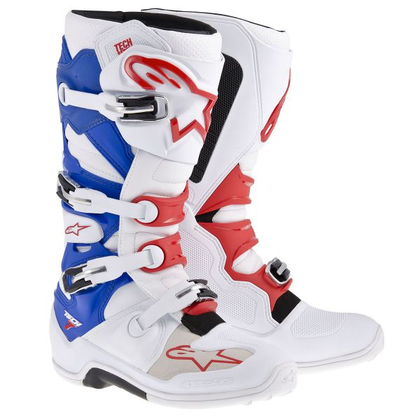Bottes Cross Alpinestars TECH 7 White Blue Red