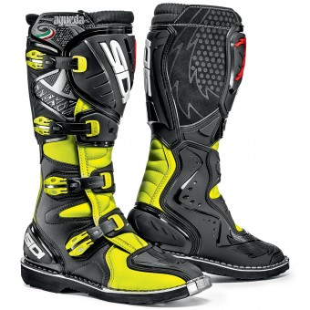 Bottes Cross SIDI Agueda Yellow Fluo Black