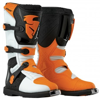 Bottes Cross Thor Blitz Black White Orange Enfant