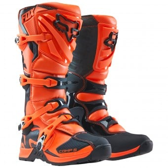 Bottes Cross FOX Comp 5Y Orange Enfant 009