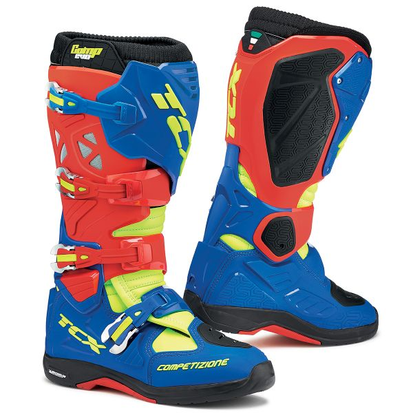 Bottes Cross TCX Comp Evo Michelin Red Blue Yellow Fluo