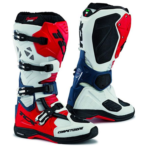 Bottes Cross TCX Comp Evo Michelin White Red Blue