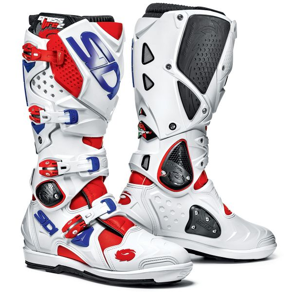 Bottes Cross SIDI Crossfire 2 SRS Red White Blue