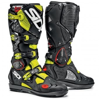 Bottes Cross SIDI Crossfire 2 SRS Yellow Fluo Black