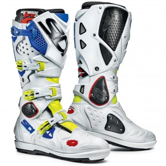 Bottes Cross SIDI Crossfire 2 SRS Yellow Fluo White Blue
