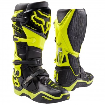 Bottes Cross FOX Instinct Black Yellow (019)
