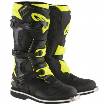 Bottes Cross Alpinestars Tech 1 Black Yellow Fluo