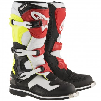 Bottes Cross Alpinestars Tech 1 Yellow Fluo Red