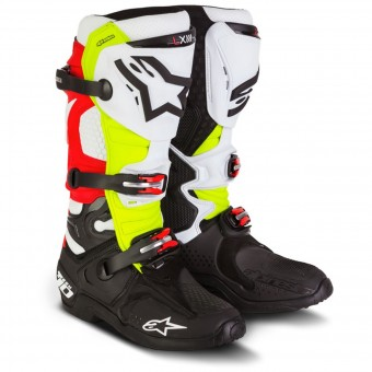 Bottes Cross Alpinestars Tech 10 Black Yellow Fluo Red