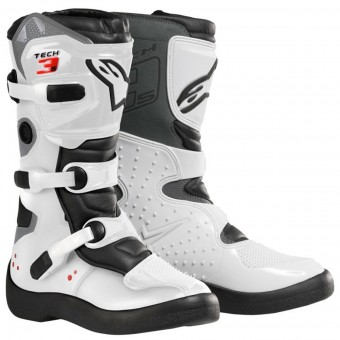 Bottes Cross Alpinestars Tech 3 S White Black Enfant
