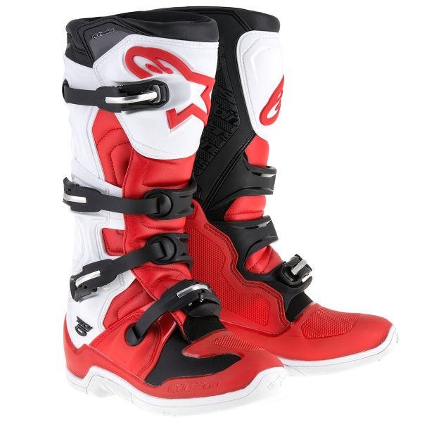 Bottes Cross Alpinestars Tech 5 Red White Black