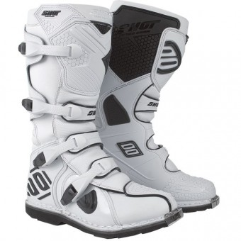 Bottes Cross SHOT X10 Blanc