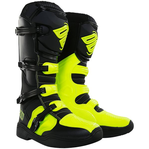 Bottes Cross SHOT X11 Black Neon Yellow