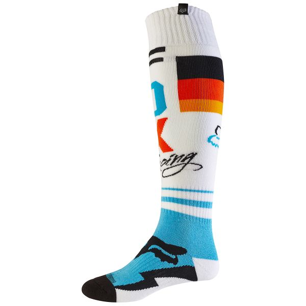 Chaussettes Cross FOX Fri Rohr Thin White 008