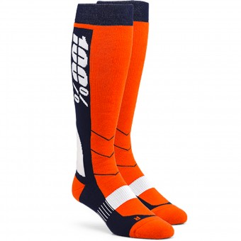Chaussettes Cross 100% Socks Hi Side Orange