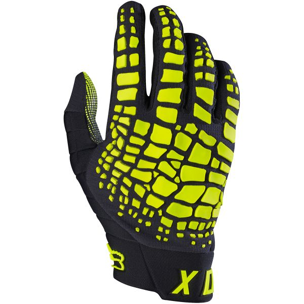 Gants Cross FOX 360 Grav Black Yellow (019)