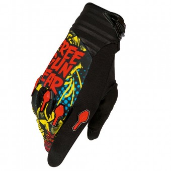 Gants Cross Freegun Devo Iron Black Red Blue Enfant