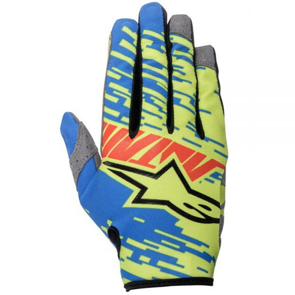 Gants Cross Alpinestars Racer Braap Blue Red Lime Green