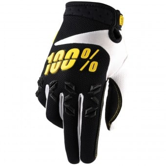 Gants Cross 100% Airmatic Black Yellow