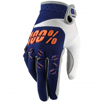 Gants Cross 100% Airmatic Navy Orange