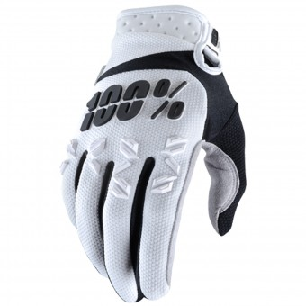 Gants Cross 100% Airmatic White Black