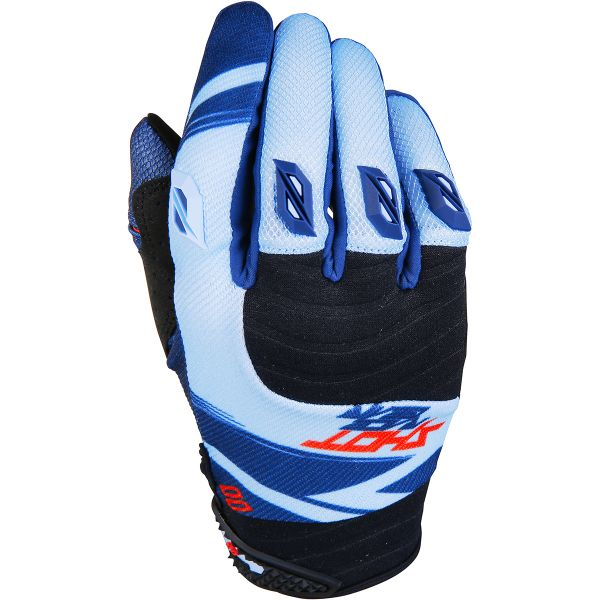 Gants Cross SHOT Contact Claw Blue Red Black