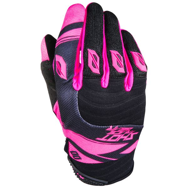 Gants Cross SHOT Contact Claw Neon Pink Black