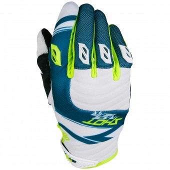 Gants Cross SHOT Contact Claw Teal Blue Black