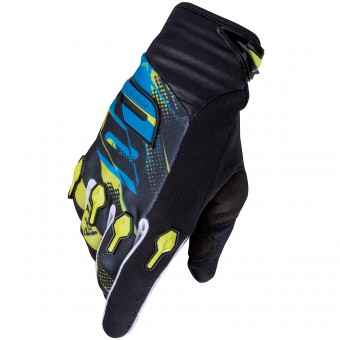 Gants Cross SHOT Devo Capture Lime Blue Enfant