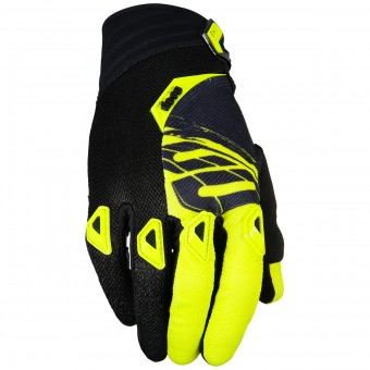 Gants Cross SHOT Devo Fast Neon Yellow Black Enfant