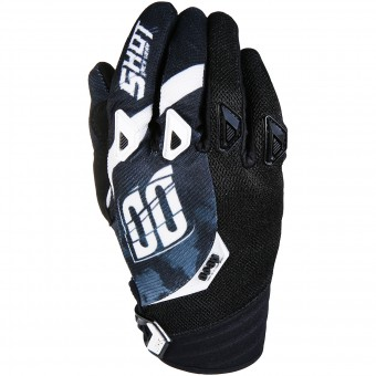 Gants Cross SHOT Devo Squad Black White