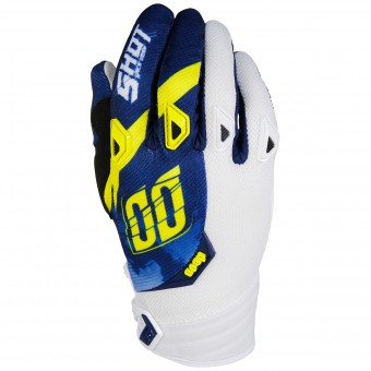 Gants Cross SHOT Devo Squad Blue Yellow White