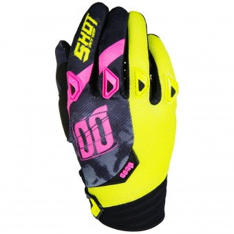 Gants Cross SHOT Devo Squad Lime Pink Black