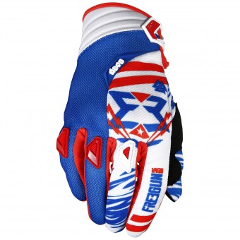 Gants Cross Freegun Devo Trooper Blue Red Black Enfant