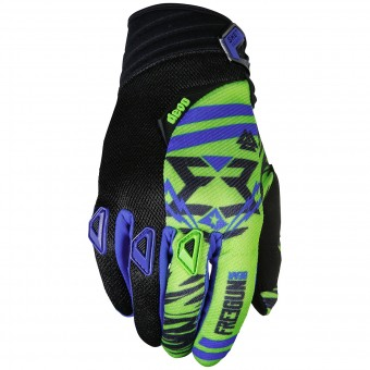 Gants Cross Freegun Devo Trooper Green Blue Black Enfant