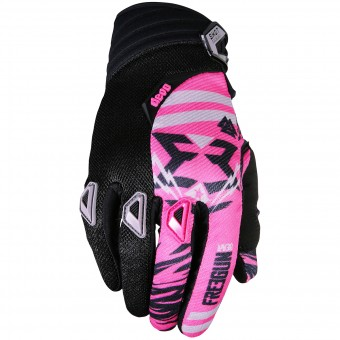 Gants Cross Freegun Devo Trooper Pink Black Enfant