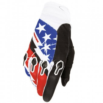 Gants Cross Freegun Devo US Blue Red Enfant