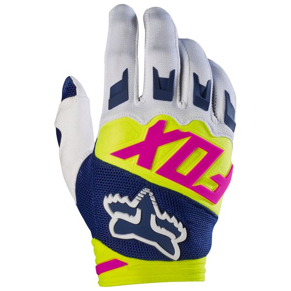 Gants Cross FOX Dirtpaw Race Navy White 045