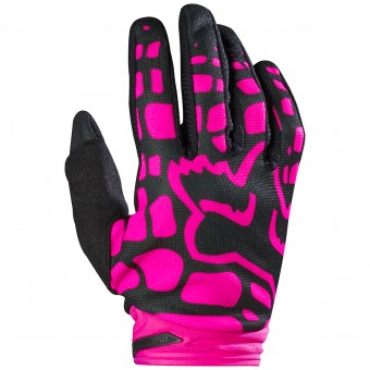 Gants Cross FOX Dirtpaw Woman Black Pink 285