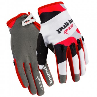 Gants Cross pull-in Fighter Camo White Red