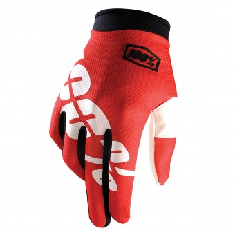 Gants Cross 100% Itrack Fire Red