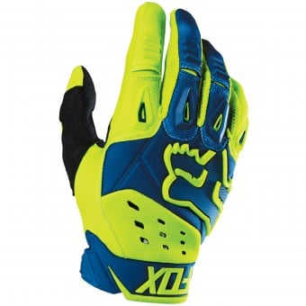 Gants Cross FOX Pawtector Race Blue Yellow (026)