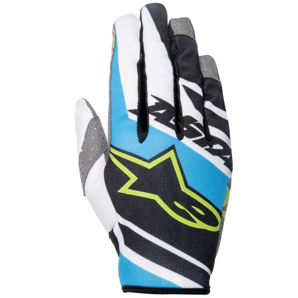 Gants Cross Alpinestars Racer Supermatic Cyan