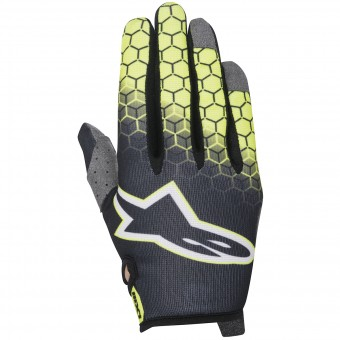 Gants Cross Alpinestars Radar Flight Anthracite Yellow Fluo