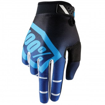 Gants Cross 100% Ridefit Corpo Blue