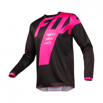 Maillot Cross FOX 180 Mastar Black Pink 001