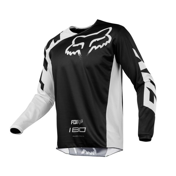Maillot Cross FOX 180 Race Black White 001